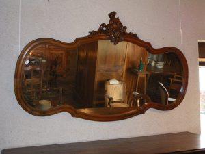 Glace de style Louis XV en noyer miroir