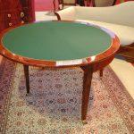 Table à jeux Directoire ronde